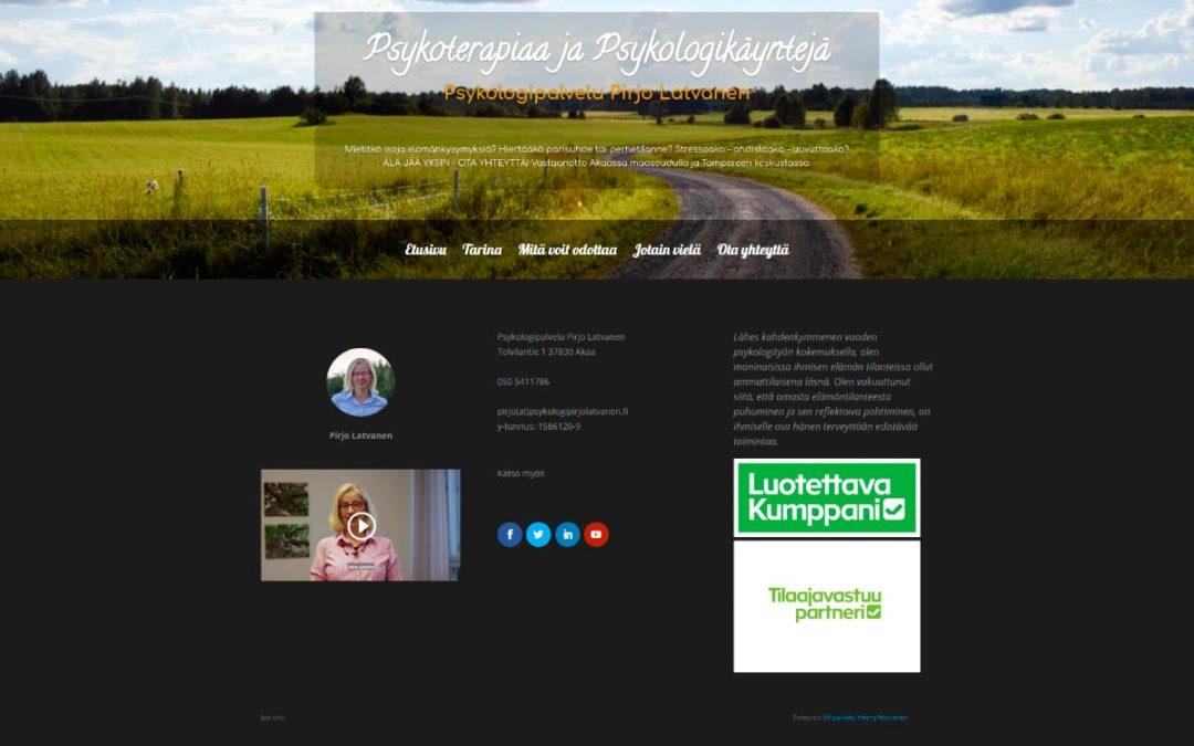 Verkkosivusto Psykologipalvelu Pirjo Latvanen