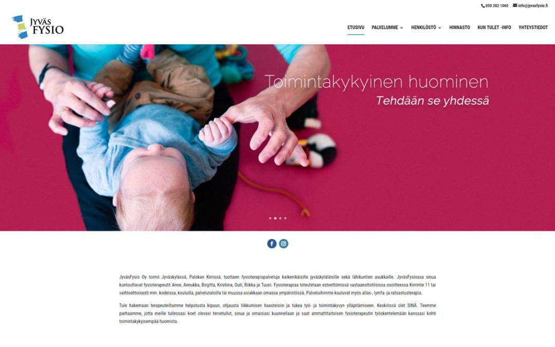 Jyväsfysio -verkkosivusto