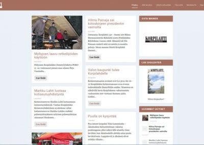 Korpilahtilehti.fi -verkkosivusto
