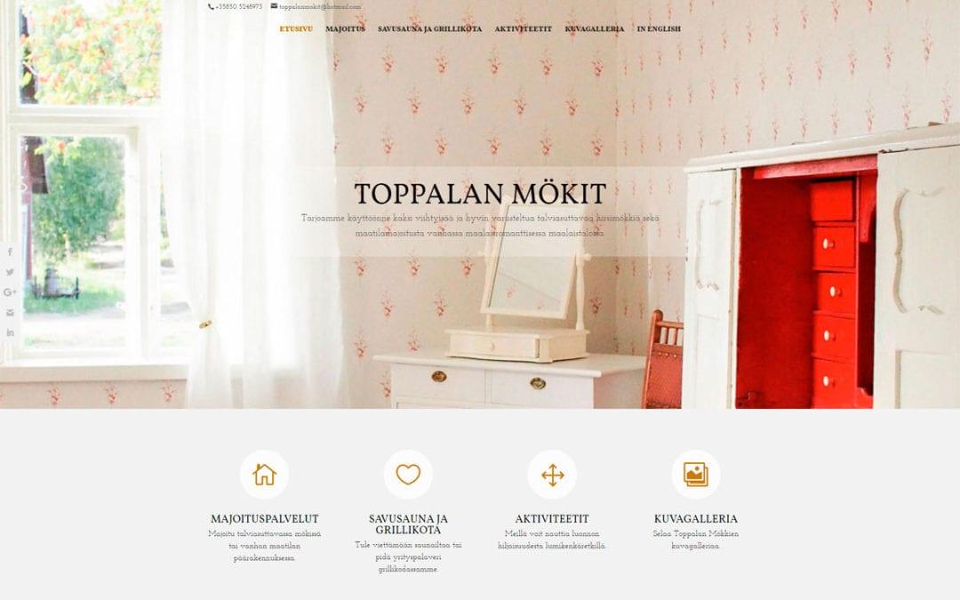 Toppalan mökit -verkkosivusto