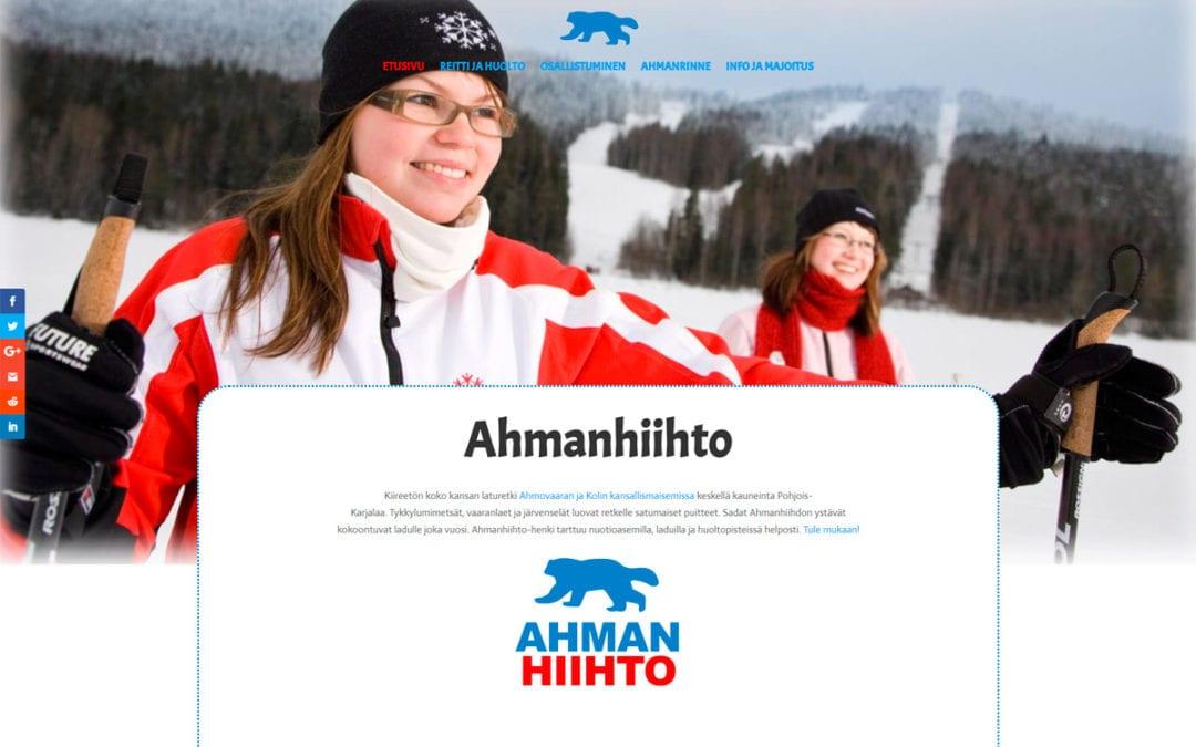Ahmanhiihto.fi -verkkosivusto ja logon toteutus