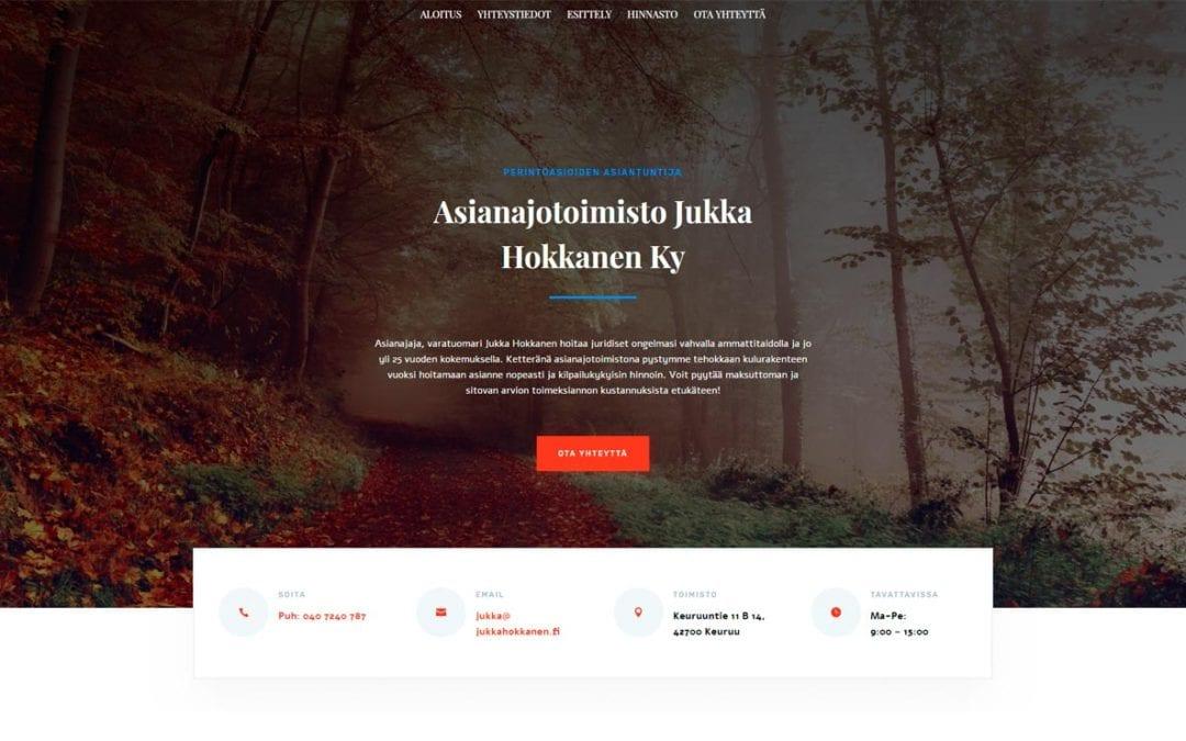 Jukkahokkanen.fi -verkkosivut