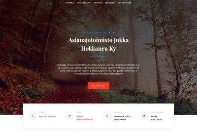 jukkAsianajotoimisto Jukka Hokkanen Ky -verkkosivustoa